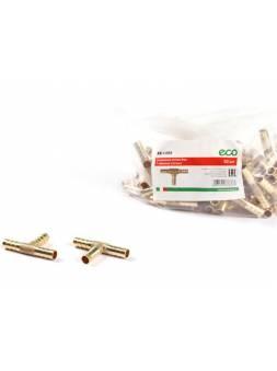 Соединение елочка 12 мм Т-образное (латунь) ECO