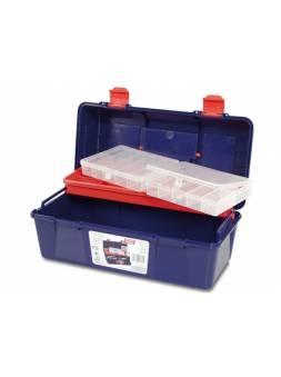 Ящик для инструмента пластмассовый 35,6x18,4x16,3см (с лотком и органайзером) (TAYG)