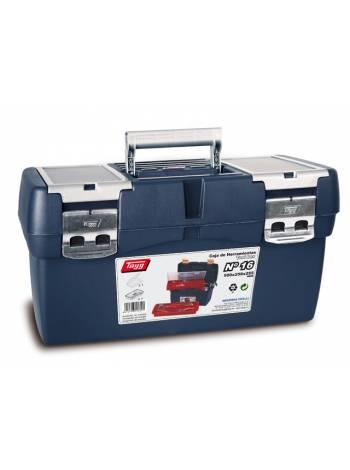 Ящик для инструмента пластмассовый 50x25,8x25,5см (с лотком и органайзером) (мет. замки) (TAYG)