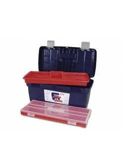 Ящик для инструмента пластмассовый 58x29x29см (с лотком и органайзером) (мет. замки) (TAYG)