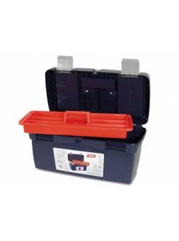 Ящик для инструмента пластмассовый 50x25,8x25,5см (с лотком) (мет. замки) (TAYG)