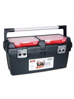 Ящик для инструмента пластмассовый 60x30,5x29,5см (с лотком и органайзером) (алюм.рукоятка, мет. замки) (TAYG)