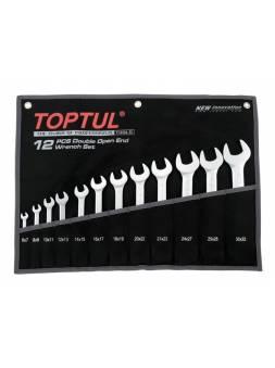 Набор ключей рожк. 6-32мм 12шт (черное полотно) TOPTUL (GPAJ1202)