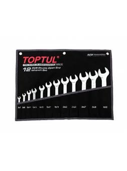 Набор ключей рожк. 6-22мм 8шт (черное полотно) TOPTUL (GPAJ0802)