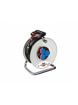 Удлинитель на катушке 25м (3 роз., 3.3кВт, метал. катушка, резин. кабель, с/з) Brennenstuhl Garant