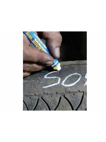Маркер промышл. на основе твердой краски для шин MARKAL БЕЛЫЙ (толщ. линии 12.7 мм) (Цвет белый)