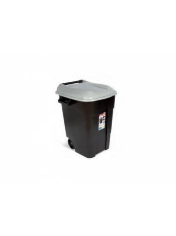 Контейнер для мусора пластик. 100л (серая крышка) (TAYG)