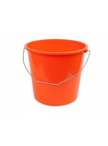 Ведро 10 л, мандарин, BEROSSI (Изделие из пластмассы. Литраж 10 литров)