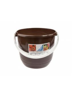Ведро Practic (Практик) 10 л, шоколадный, BEROSSI (Изделие из пластмассы. Литраж 10 л)