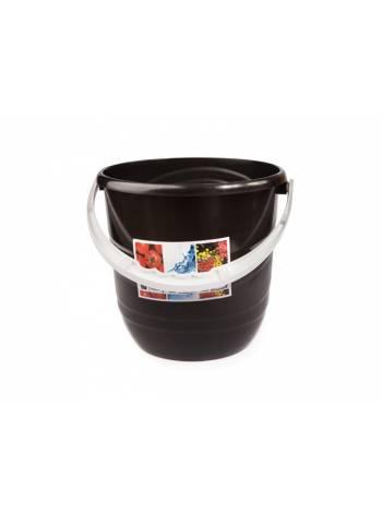 Ведро Practic (Практик) 12 л, черный, BEROSSI (Изделие из пластмассы. Литраж 12 л)