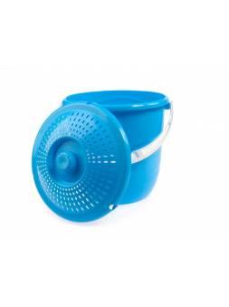 Ведро Practic lux (Практик люкс) с крышкой 10 л, голубая лагуна, BEROSSI (Изделие из пластмассы. Литраж 10 л)