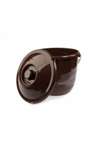 Ведро Practic plus (Практик плюс) с крышкой 10 л, шоколадный, BEROSSI (Изделие из пластмассы. Литраж 10 л)