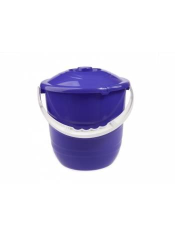 Ведро Practic plus (Практик плюс) с крышкой 12 л, лазурно-синий, BEROSSI (Изделие из пластмассы. Литраж 12 л)