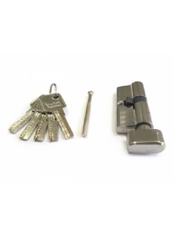 Евроцилиндр с вертушкой DORMA CBR-1 60 (30x30В) никель (перфорированный ключ)