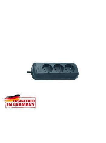 Удлинитель 1.5м (3 роз., 3.3кВт, с/з, ПВС) черный Brennenstuhl Eco-Line