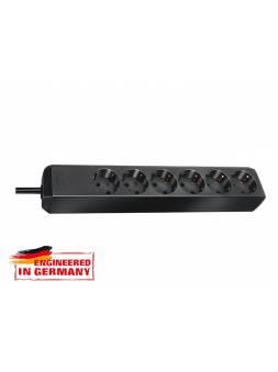 Удлинитель 1.5м (6 роз., 3.3кВт, с/з, ПВС) черный Brennenstuhl Eco-Line