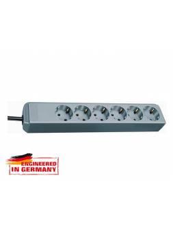 Удлинитель 1.5м (6 роз., 3.3кВт, с/з, ПВС) серебристо-серый Brennenstuhl Eco-Line