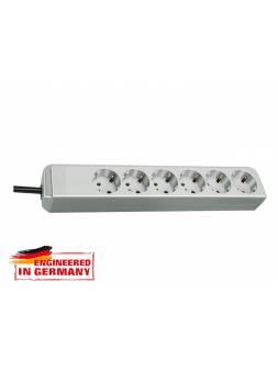 Удлинитель 1.5м (6 роз., 3.3кВт, с/з, ПВС) светло-серый Brennenstuhl Eco-Line