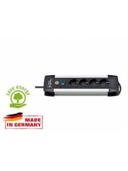Удлинитель 1.8м (4 роз., 3.3кВт, с/з, выкл., ПВС) Brennenstuhl Premium-Alu-Line