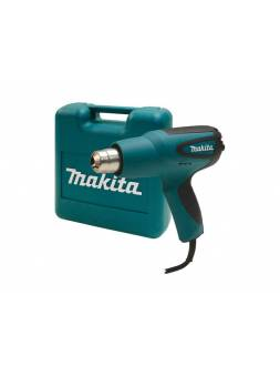Термовоздуходувка MAKITA HG 5012 K в чем. + набор сопл (1600 Вт, 2 скор., 350-550 °С, ступенч. рег.,350-550 °С)