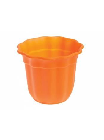 Горшок для цветов, диам.23см, оранжевый, CYCLOPS (Диаметр верха 23смВысота горшка 19см)