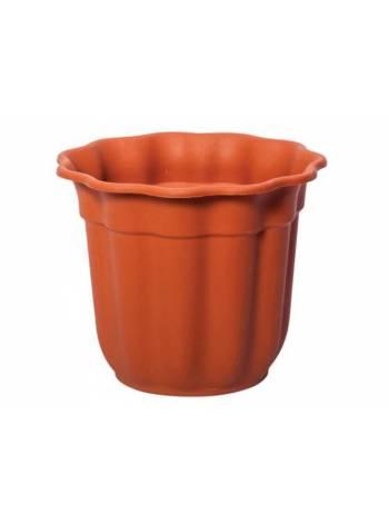 Горшок для цветов, диам.25,5см, терракотовый, CYCLOPS (Диаметр верха 25,5смВысота горшка 21,5см)