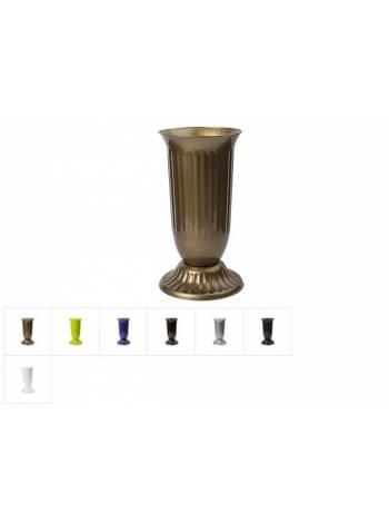 Ваза пластм. d-19 cм с подставкой, DRINA (цвета в ассортименте)