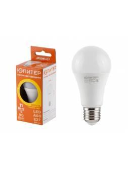 Лампа светодиодная A60 СТАНДАРТ 11 Вт E27 3000К ЮПИТЕР (аналог 90 Вт)