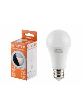 Лампа светодиодная A60 СТАНДАРТ 15 Вт E27 4000К ЮПИТЕР (аналог 120 Вт)