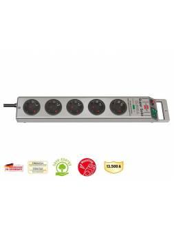 Удлинитель / фильтр сетев. 2.5м (5 роз., 3.3кВт, с/з, выкл., ПВС) Brennenstuhl Super-Solid-Line