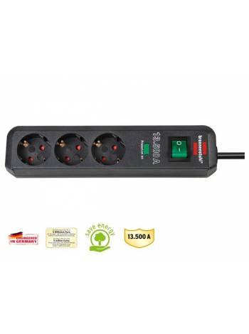 Удлинитель / фильтр сетев. 1.5м (3 роз., 3.3кВт, с/з, выкл., ПВС) Brennenstuhl Eco-Line