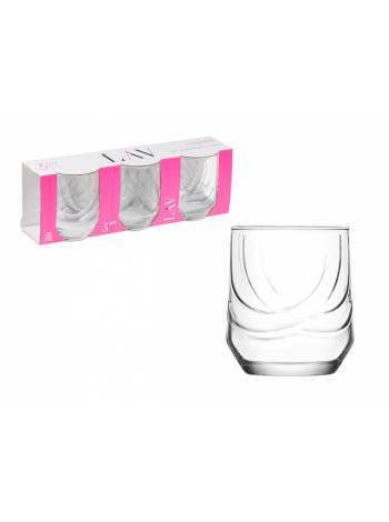 Набор стаканов для виски, 3 шт., 320 мл, серия Elit, LAV