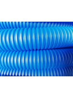 Трубка защитная гофрированная 35мм бухта 50м синяя (для 25 и 26 трубы) (Пешель для 25 и 26 трубы) (AV Engineering)