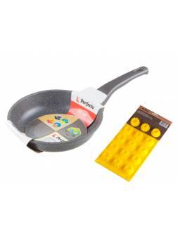 Сковорода ф 22х5.5 см, алюм., серия Grey + Форма для выпечки силиконовая, PERFECTO LINEA (Промо  Форма силиконовая для выпечки в подарок)