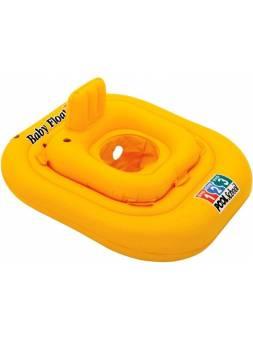 Надувной круг для плавания с сиденьем Pool School Deluxe, 79х79 см, INTEX (от 1 до 2 лет)
