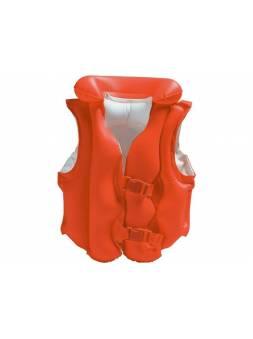 Надувной жилет для плавания Deluxe, 50х47 см, INTEX (от 3 до 6 лет)