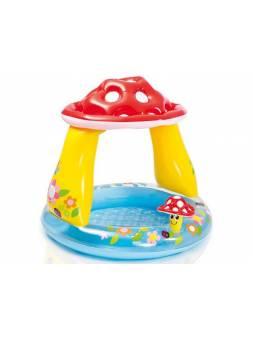 Надувной детский бассейн с навесом Грибок, 102х89 см, INTEX (для детей от 1 до 3 лет)