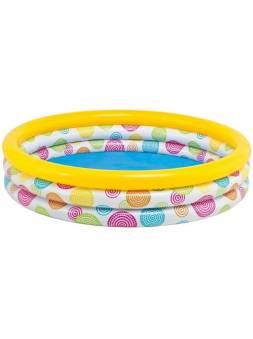 Надувной детский бассейн Cool Dots, 168х38 см, INTEX (от 2 лет)