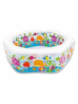 Надувной детский бассейн Happy Otter, 191х178х61 см, INTEX (от 6 лет)