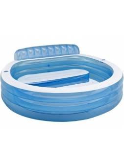 Надувной бассейн с сиденьем Семейный, 224х216х76 см, INTEX (от 3 лет)