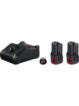 Комплект аккумулятор 12.0 В GBA12 V 2 шт. + зарядное устройство GAL 12V-40 (Набор GBA 12 В 2,0 Ач  2 шт.+ GAL 12V-40) (BOSCH)