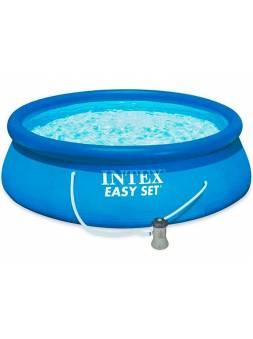 Надувной бассейн Easy Set, 396х84 см + фильтр-насос 220 В, INTEX (от 6 лет)