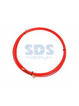 Протяжка кабельная (мини УЗК в бухте), стеклопруток, d=3,5 мм 50 м красная (REXANT)