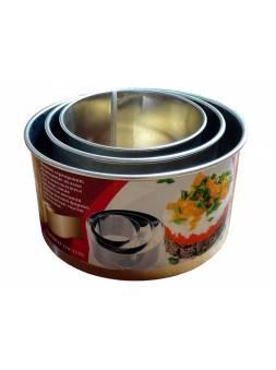 Набор кулинарных колец (ф120 мм., ф100 мм., ф80 мм.), ЖЕСТЕУПАКОВКА