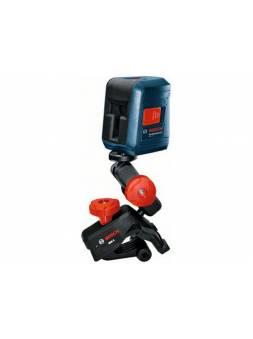 Нивелир лазерный BOSCH GLL 2 с держателем в кор. (проекция: крест, до 10 м, +/- 0.50 мм/м, резьба 1/4, 5/8