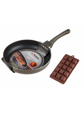 Сковорода ф 26х5 см, алюм., серия Titanium + Форма для выпечки силиконовая, PERFECTO LINEA (ПРОМО   ПОДАРОК форма силиконовая для шоколада, конфет и в