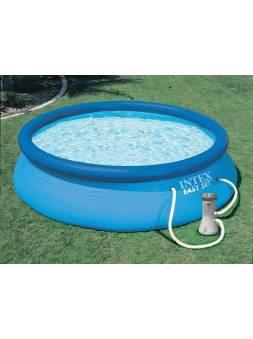 Надувной бассейн Easy Set, 244х76 см + фильтр-насос 220 В, INTEX (от 6 лет)