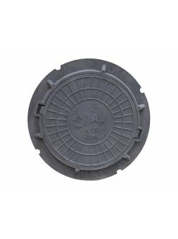 Люк садовый А15 (15 кН) серый, AV Engineering