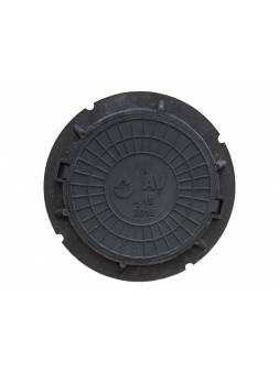 Люк садовый А15 (15 кН) черный, AV Engineering