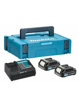 Комплект аккумулятор 12.0 В BL1020B 2 шт. + зарядное устройство DC10SB в кейсе (Набор BL1020B 12.0V 2,0 Ah 2 шт. + DC10SB) (MAKITA)